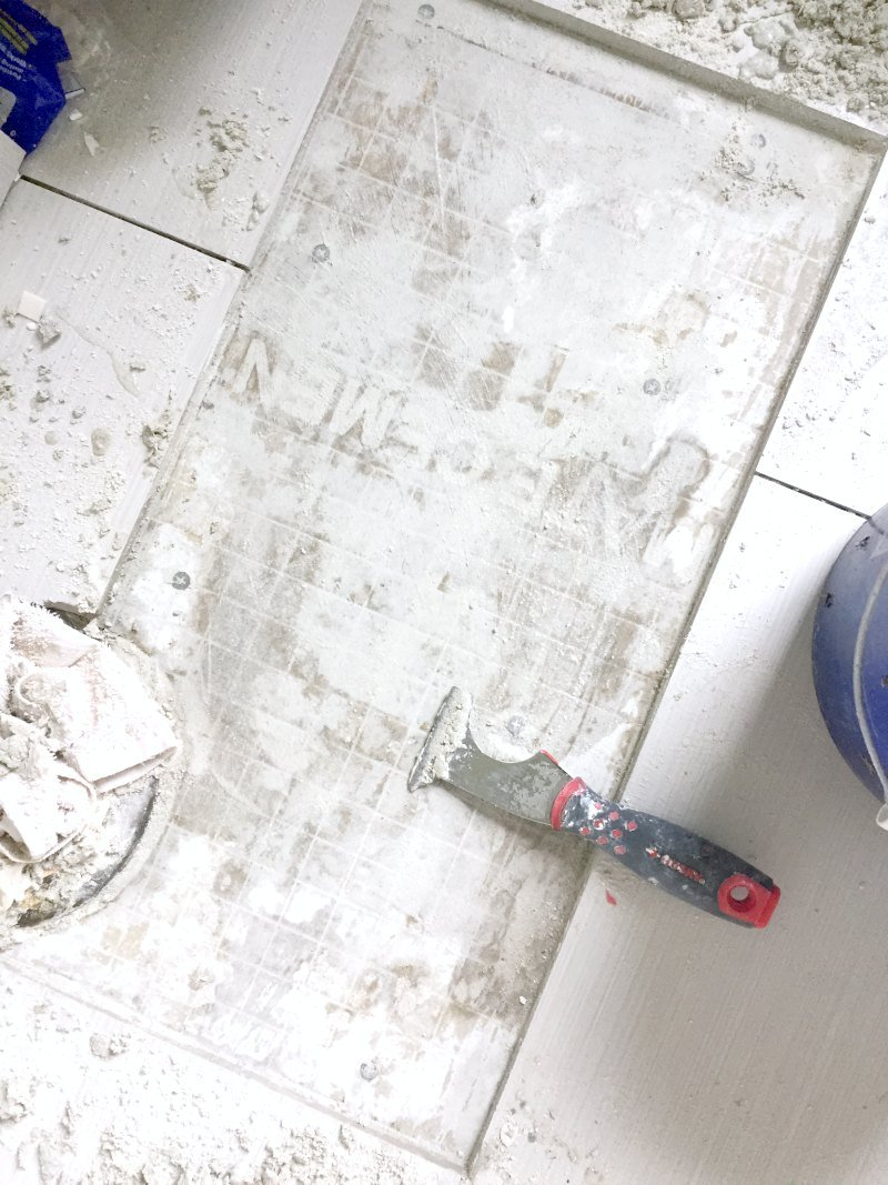 removed tile adhesive