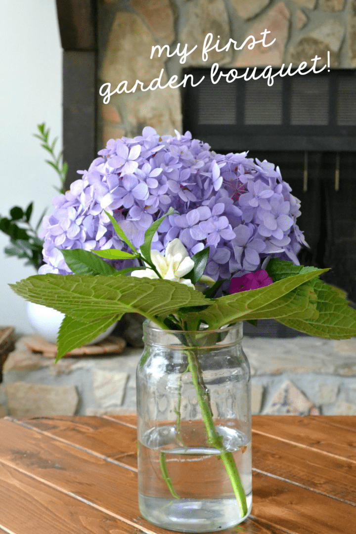 beautiful hydrangea bouquet with gardenia and phlox