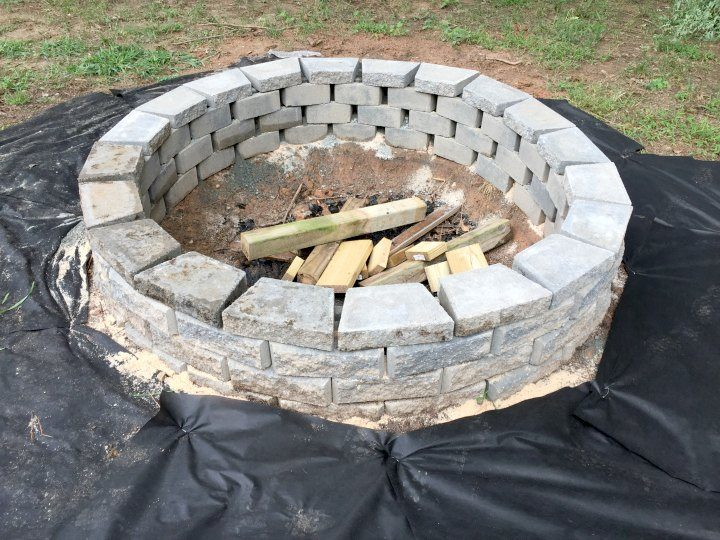 large fire pit nearing finish line
