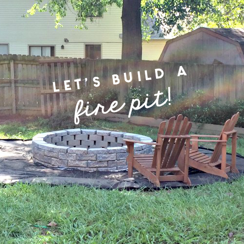fire pit with landscaping ring