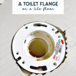 how to extend toilet flange on a tile floor