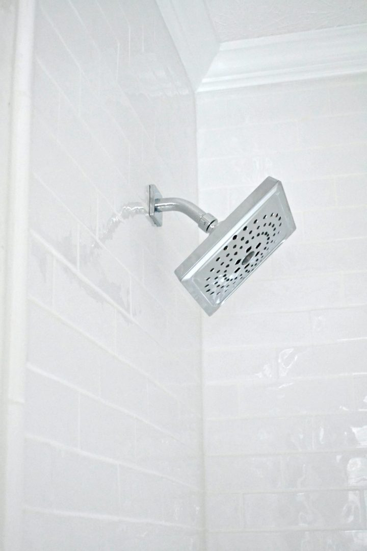zura bath collection shower head side view
