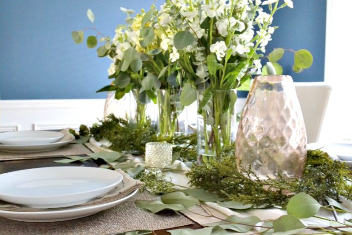 dining room table flowers