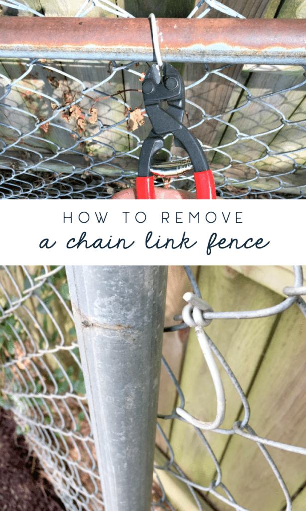 how to remove chain link fence