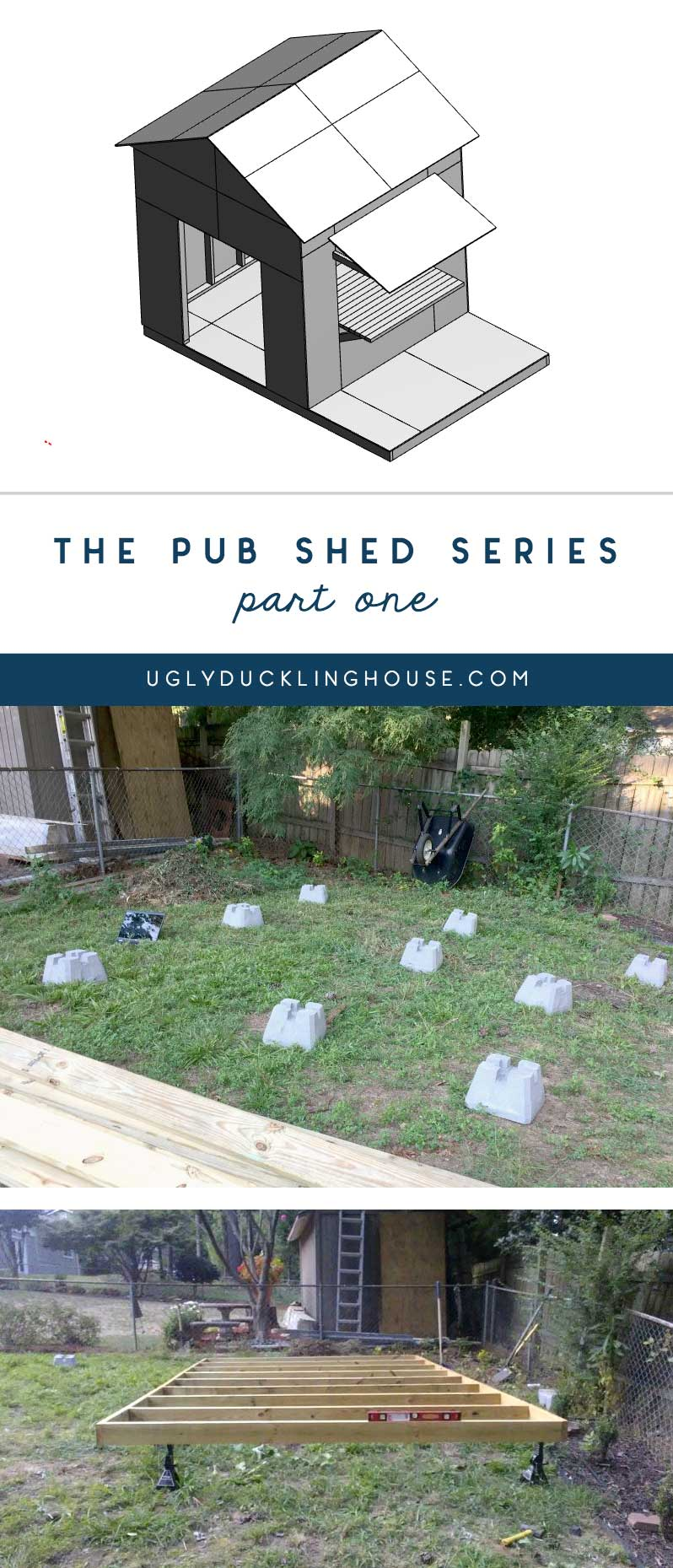 pub shed series - building the frame and setting the layout
