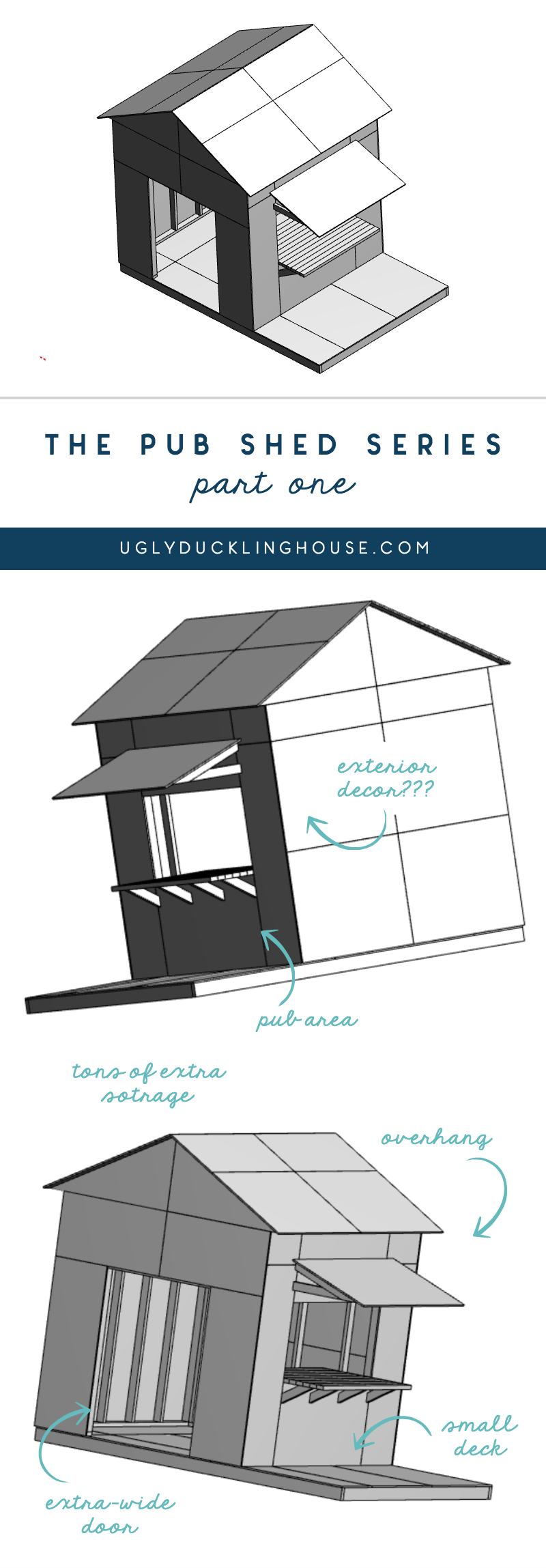 the pub shed series from the ugly duckling house