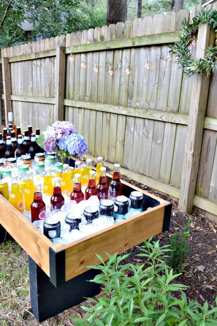 DIY outdoor drink buffet