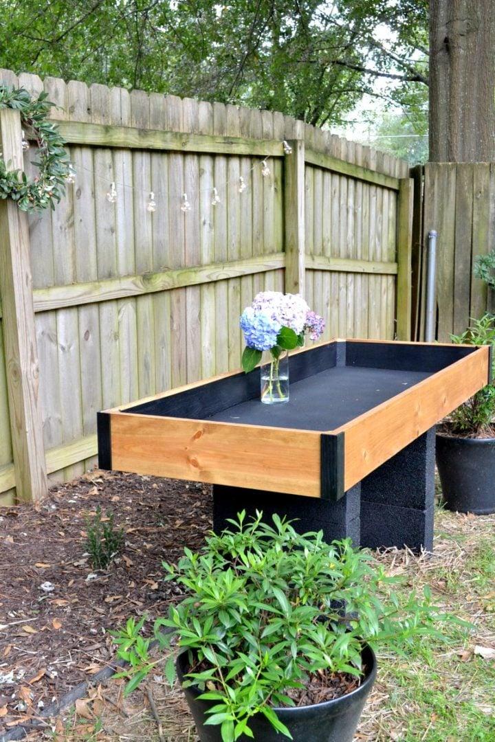 DIY outdoor drink station - 2