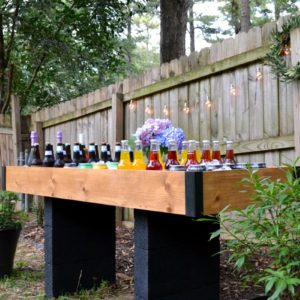 DIY outdoor drink station