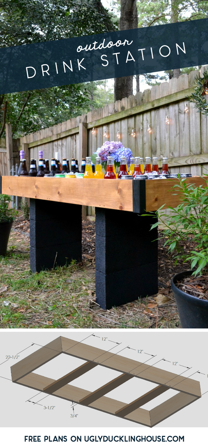 DIY outdoor drink station made with Krazy Glue #ad