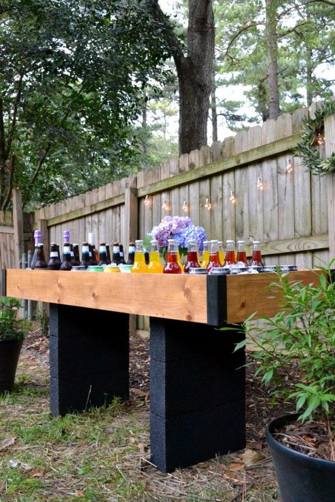 DIY Outdoor Drink Station for Backyard Entertaining