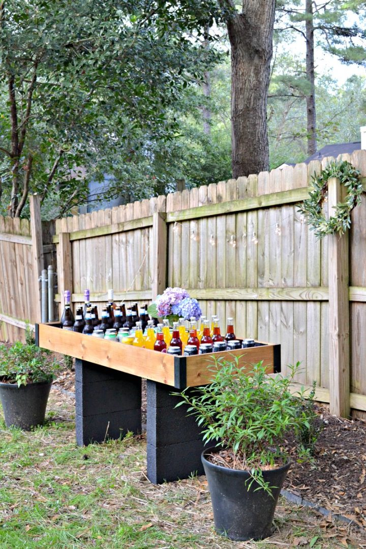 DIY party cooler station - great for entertaining