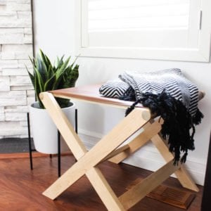 modern leather bench