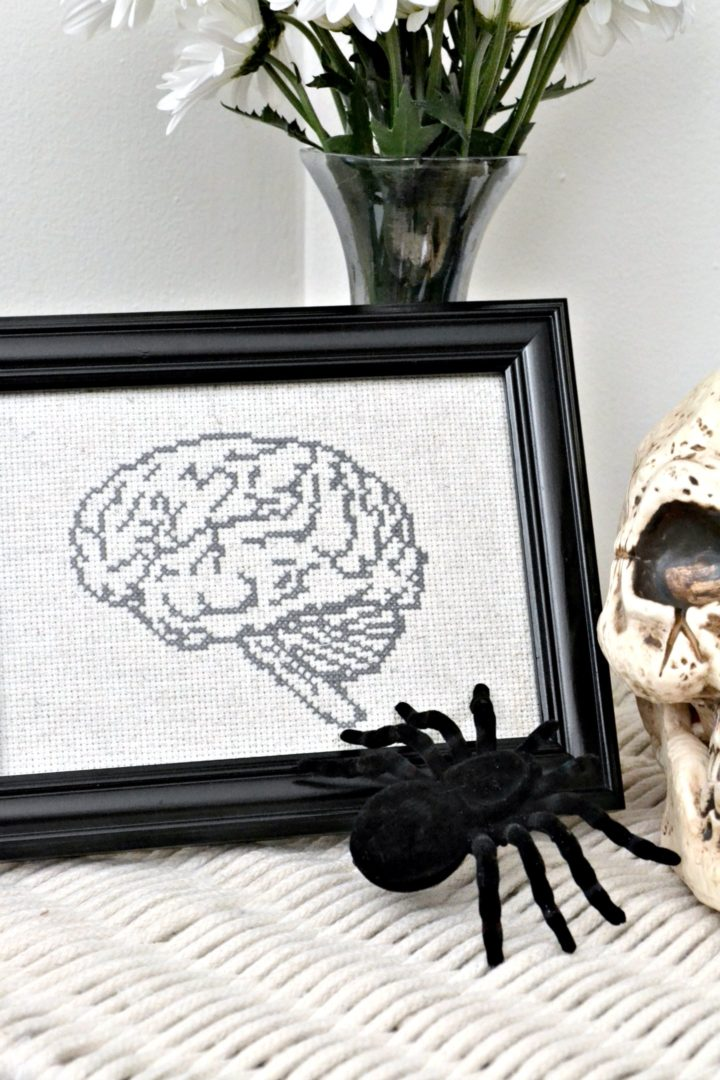 anatomical brain - cross stitch pattern
