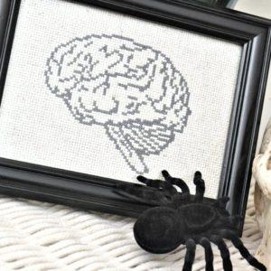 brain cross stitch
