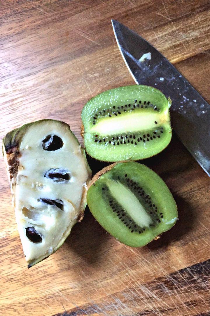 cherimoya and kiwi fruit