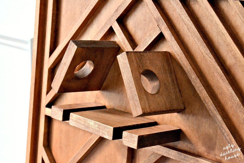 closeup of new wine rack
