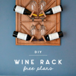 diy wine rack from plywood and wooden dowels
