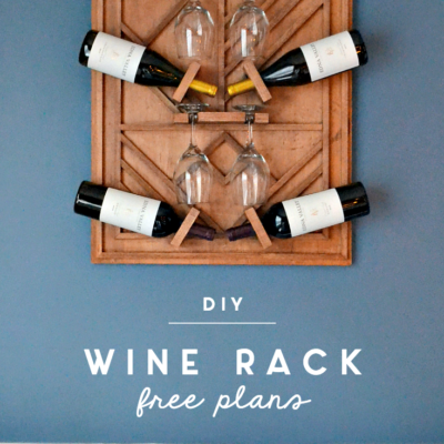 DIY Plywood Art Wine Rack