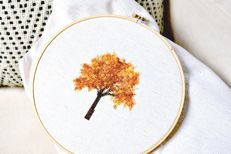 fall cross stitch pattern