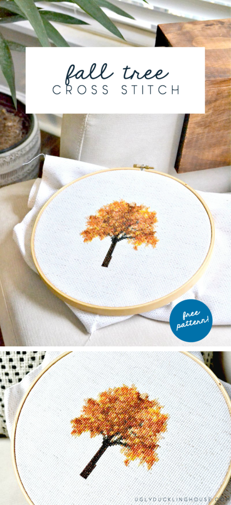 fall tree cross stitch - free pattern