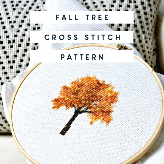 free fall cross stitch pattern