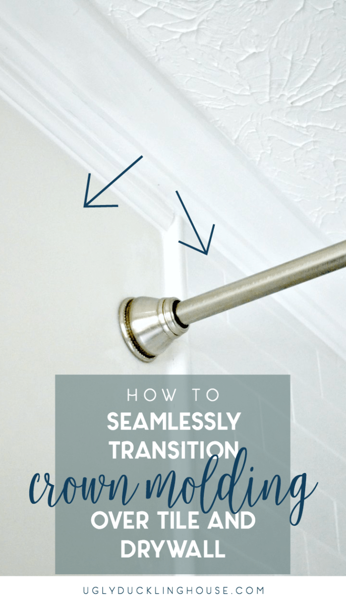 How to Seamlessly Transition Crown Molding Where Tile Meets Wall ...