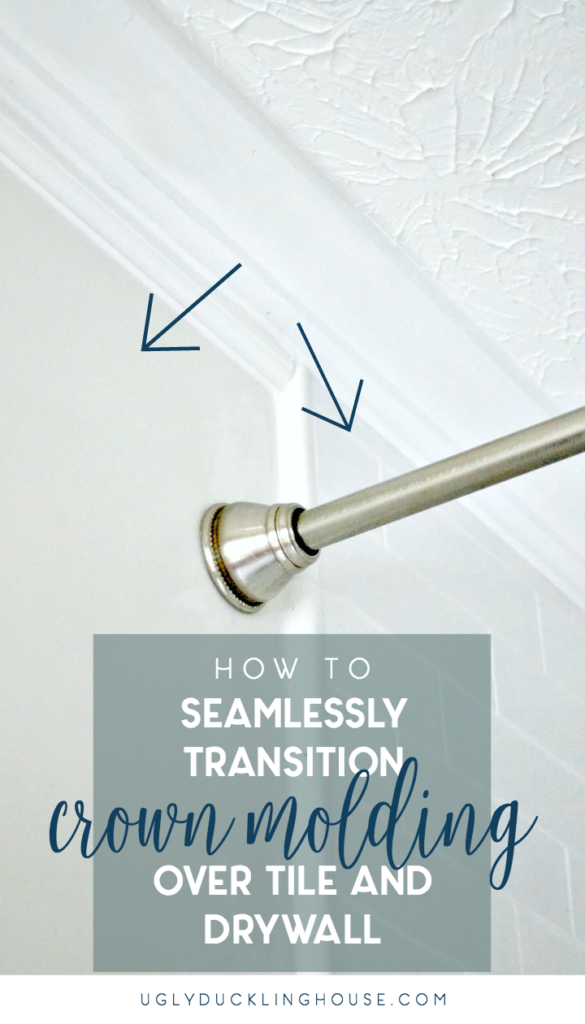 how to seamlessly transition crown molding over tile and drywall