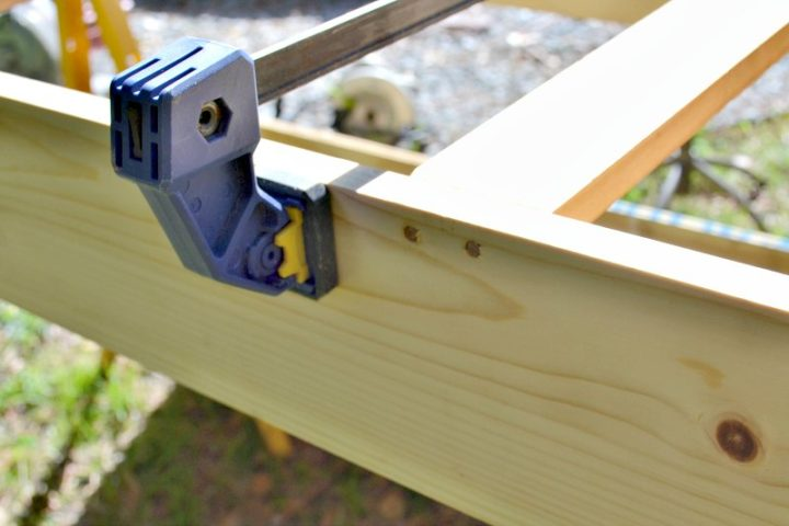 using dowels to add extra support along bottom