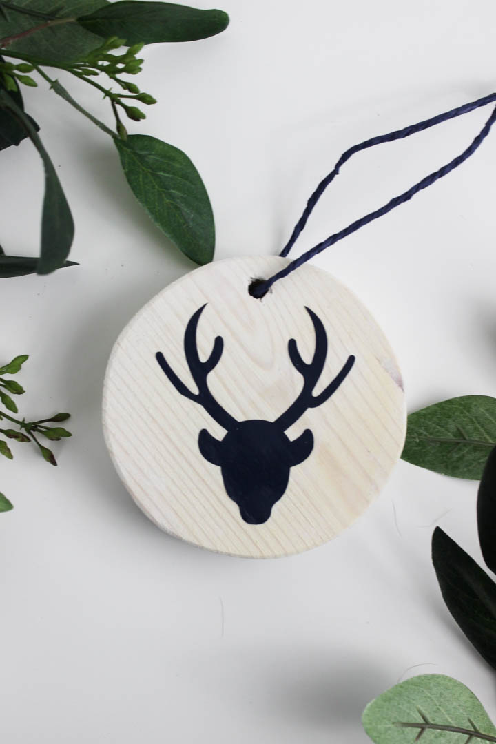 Easy White Washed Ornaments