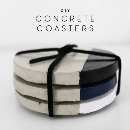 Quick & Easy Concrete Coasters