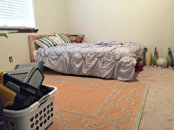 guest bedroom before - left corner