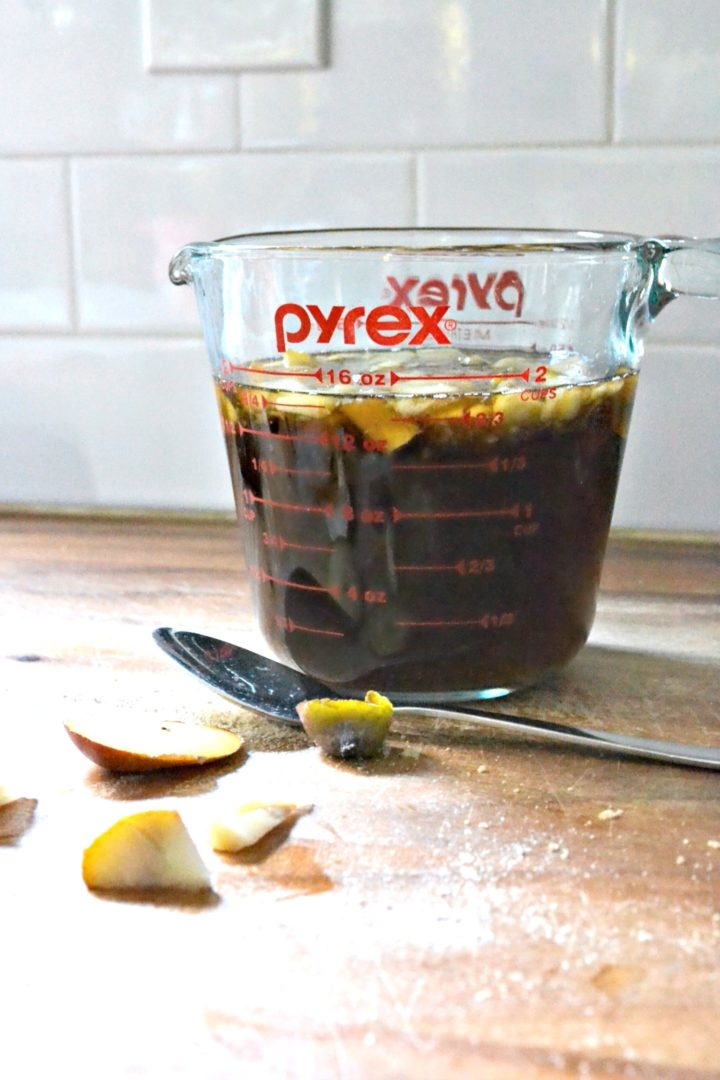 let simple syrup cool in a container that's easy to pour from