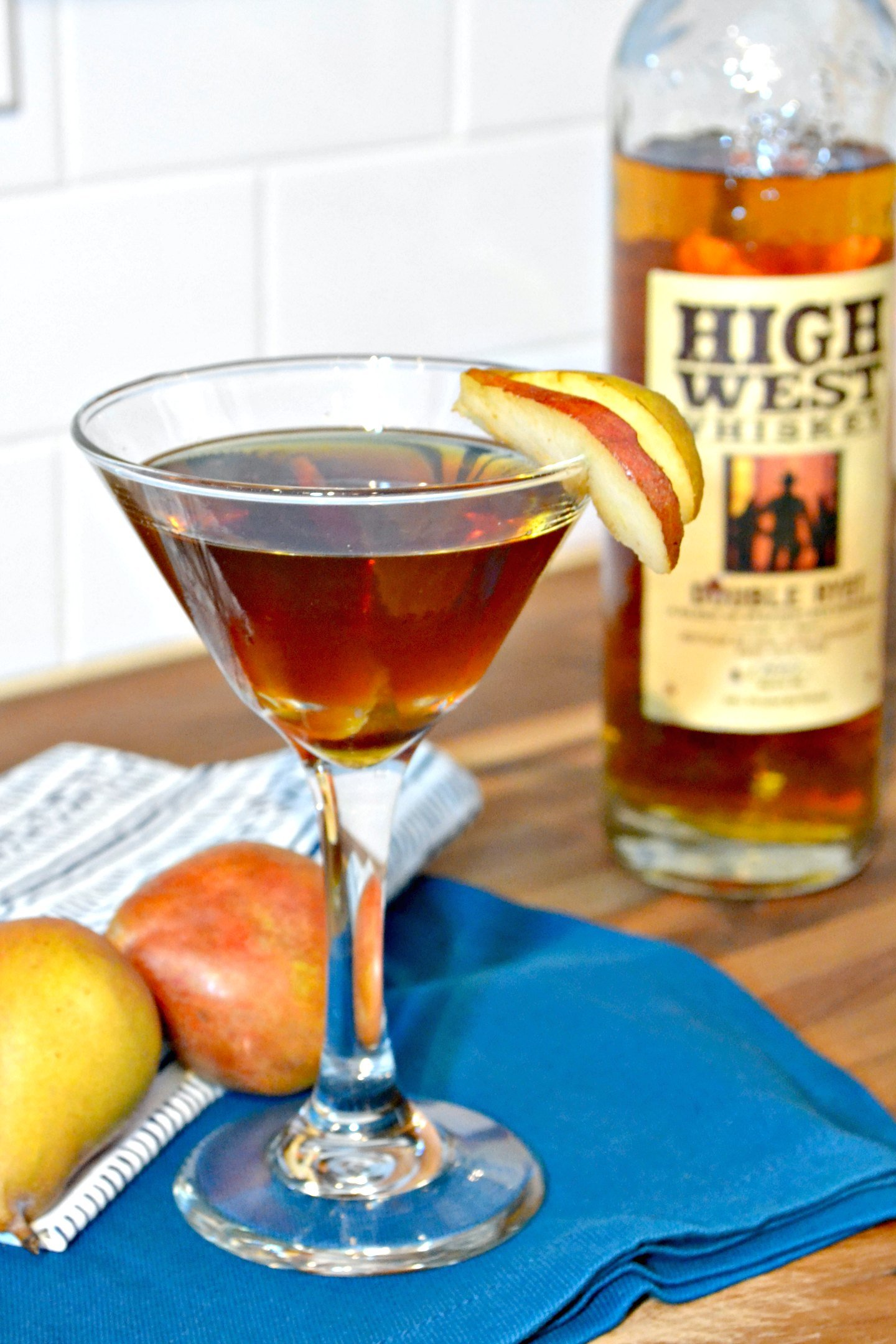 Spiced Pear Manhattan With Brown Sugar Simple Syrup Ugly