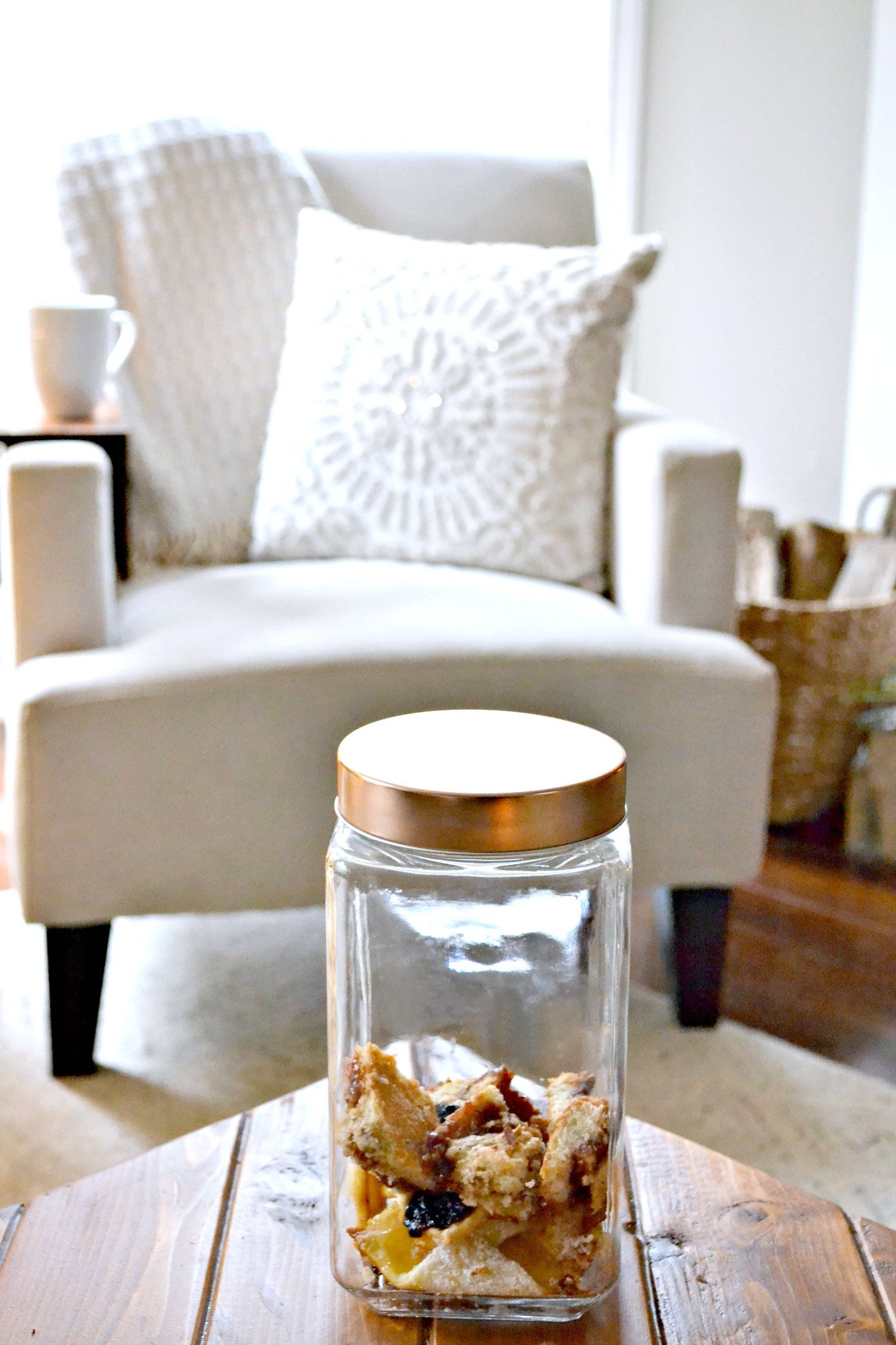 Cookie jar on coffee table