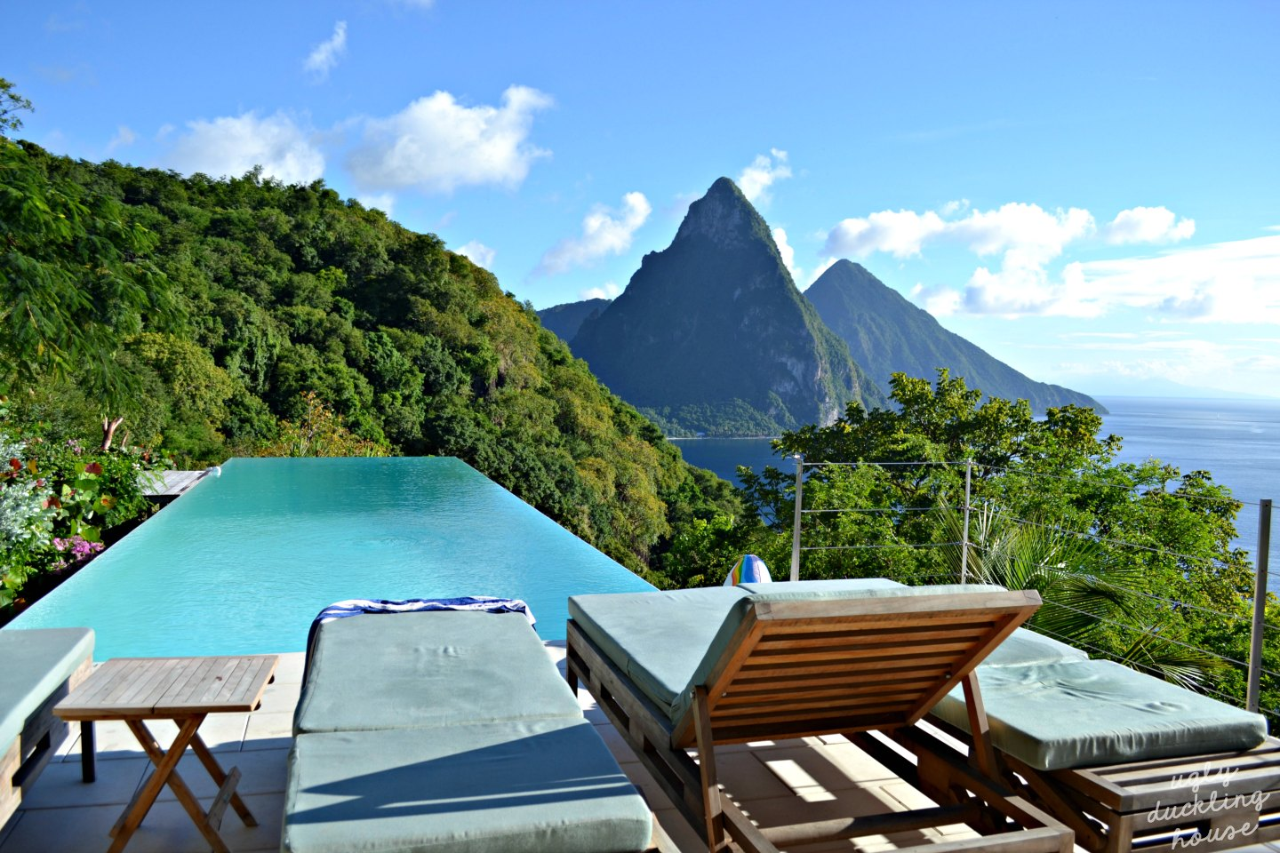 St Lucia view from villa