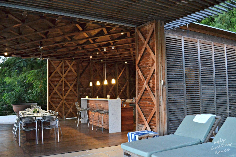 St Lucia - wood slats - villa interior
