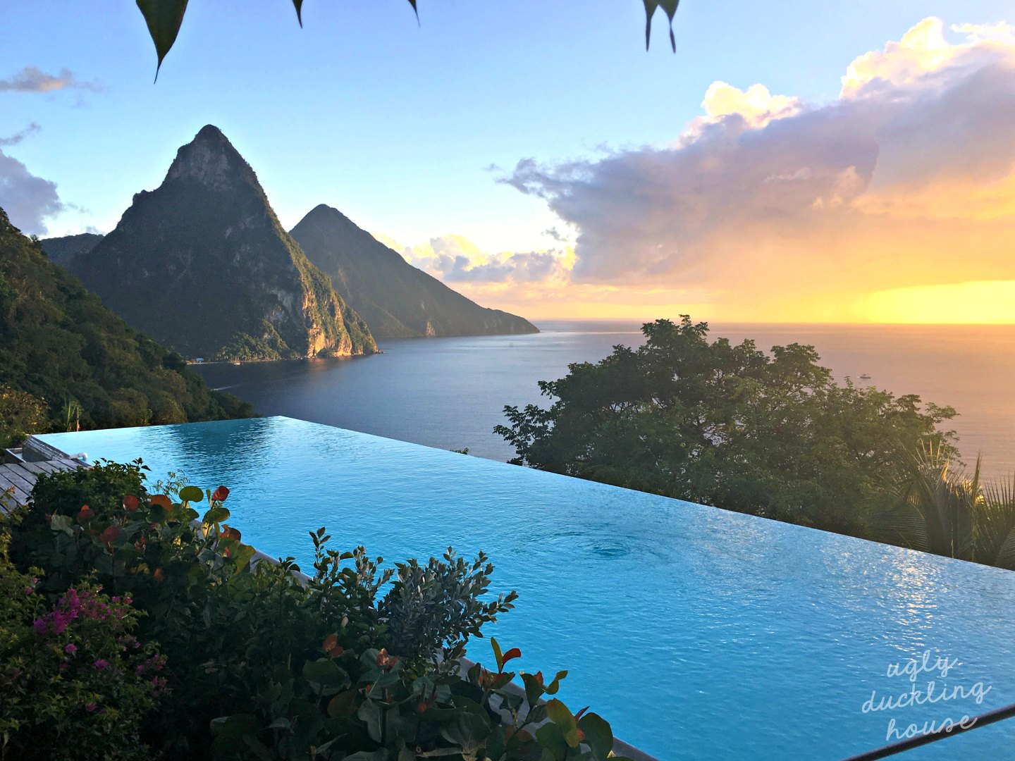 Sunset in Saint Lucia - ugly duckling house