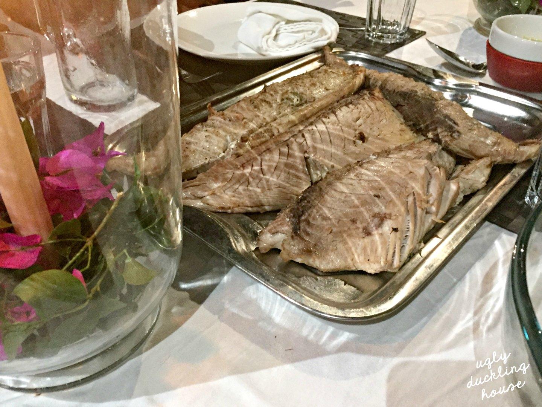 Thanksgiving fish dinner