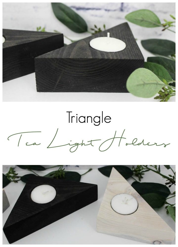 Make these unique triangle tea light holders for your home using scrap wood and a few tools. These stylish candles would look beautiful in any room in the home!