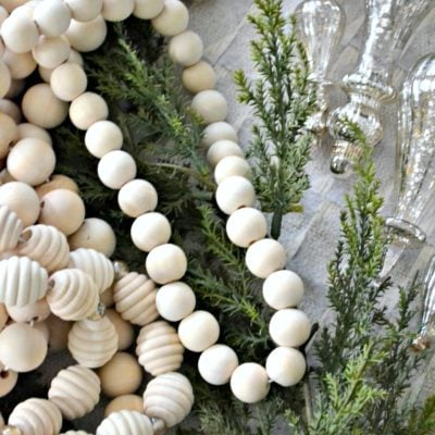 DIY Extra-Long Wood Bead Garland, 3 Ways