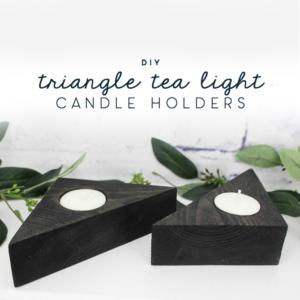 triangle tea light candle holders