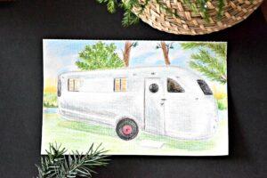 sketch of Spartan Manor travel trailer