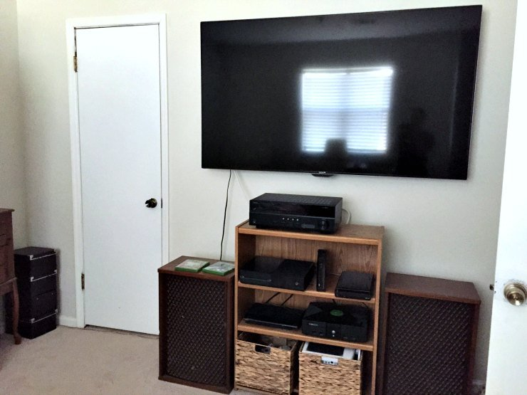 Kyles giant TV - guest room