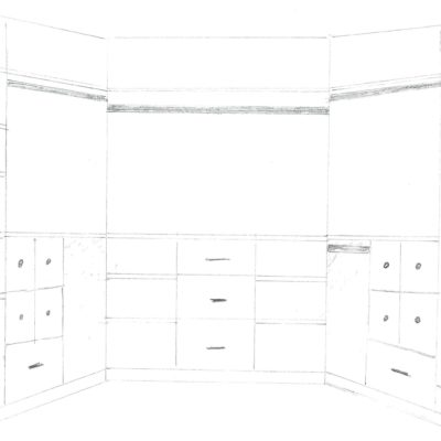 Sketching a New Master Bedroom Closet