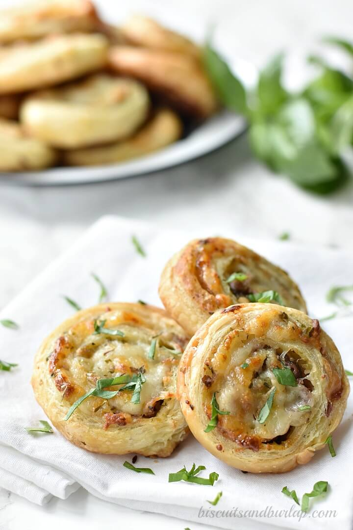 puff pastry pinwheels are perfect for your next party