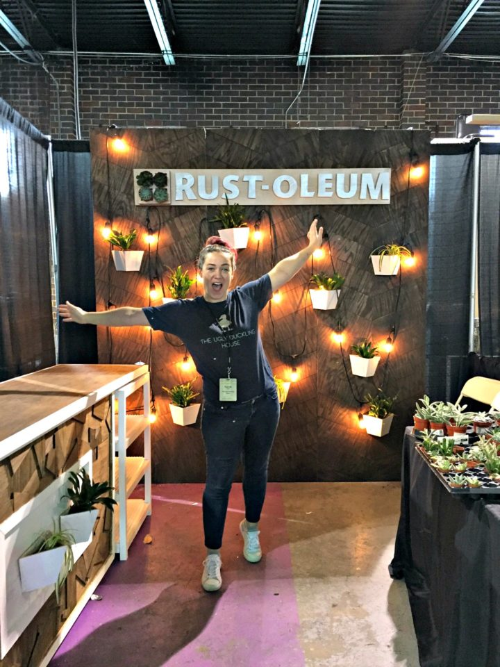 the Rust-Oleum booth I designed and built for WorkbenchCon