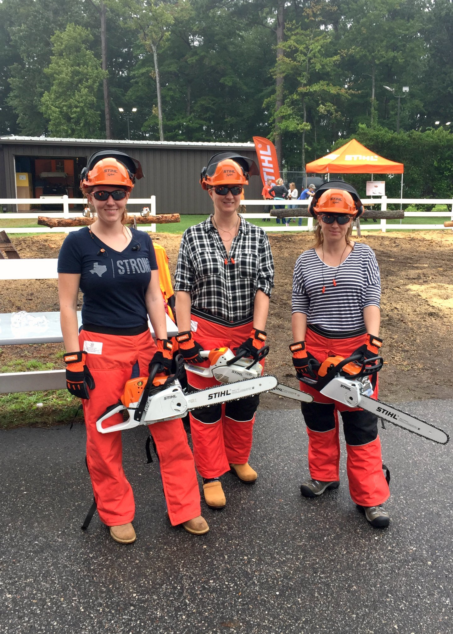 April Wilkerson, Brittany Bailey, and Sarah Fogle at STIHL
