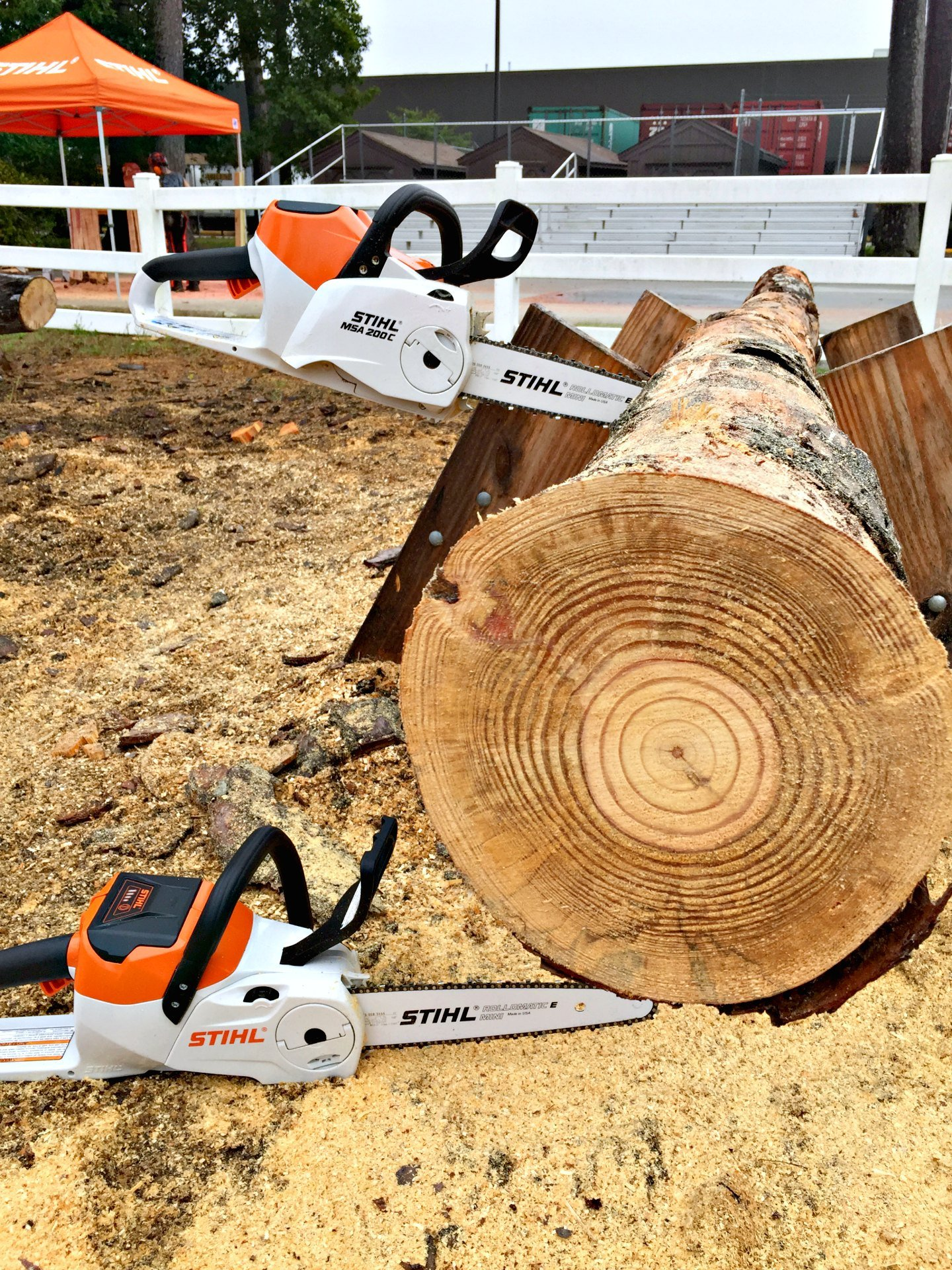 STIHL battery powered chainsaws