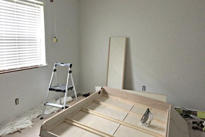 dueling diy guest bedroom murphy bed building process